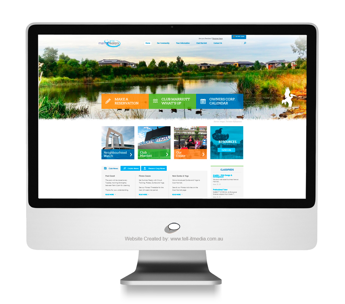 Marriott Waters Community Website